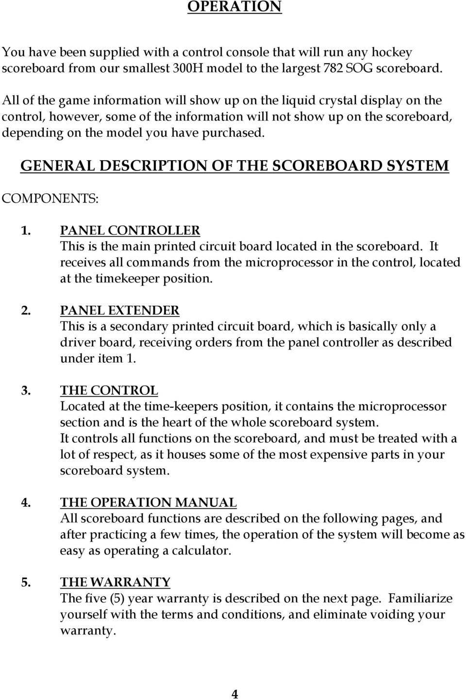 Scoreboard Hockey Manual For Pdf Circuit General Description Of The System Components 1 Panel Controller This Is Main