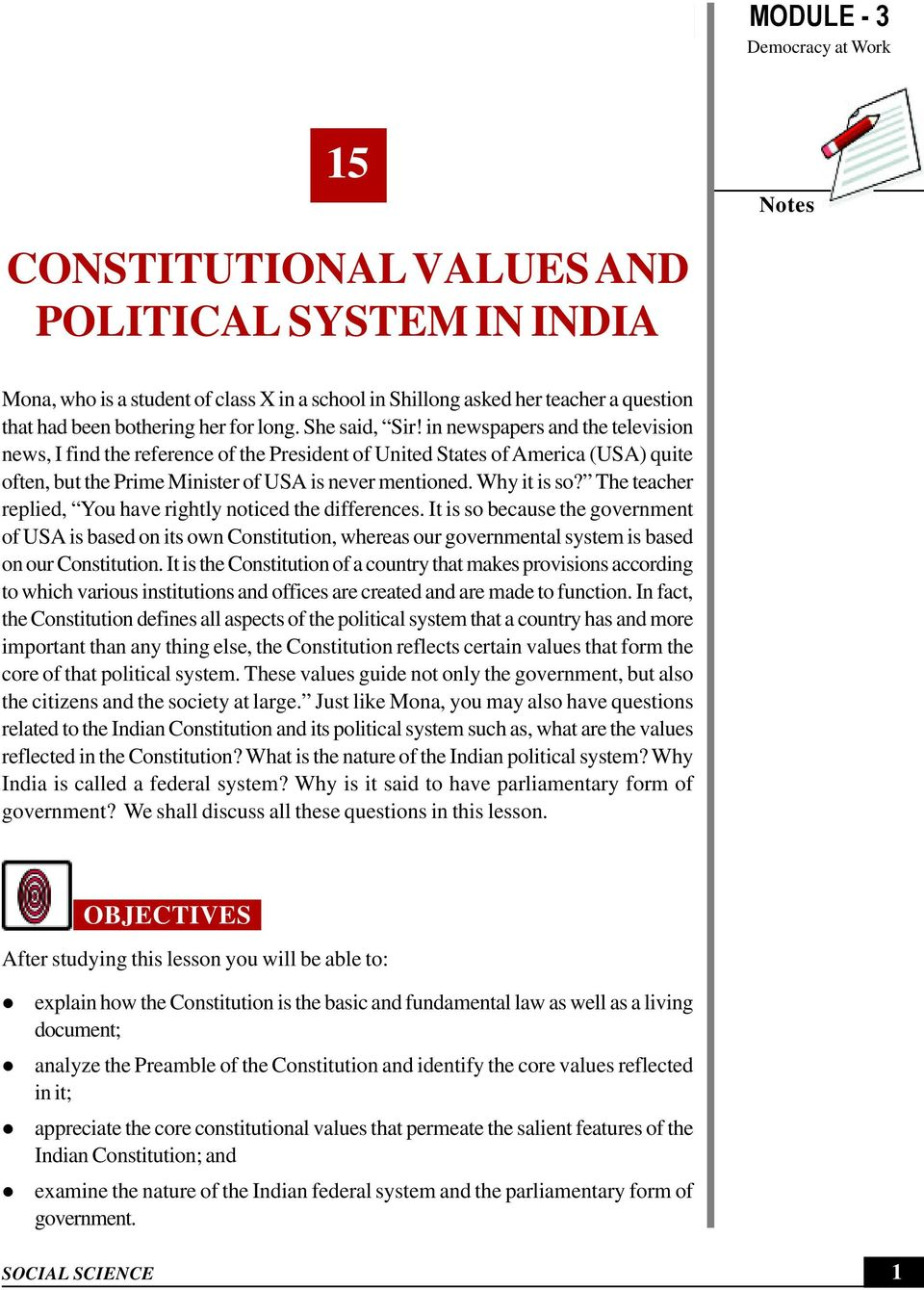 features of indian federal system