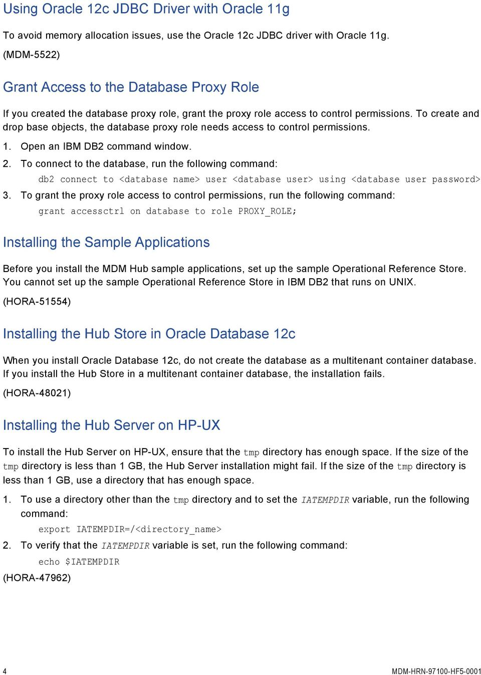 Informatica MDM Multidomain Edition Version HotFix 5 Release Notes
