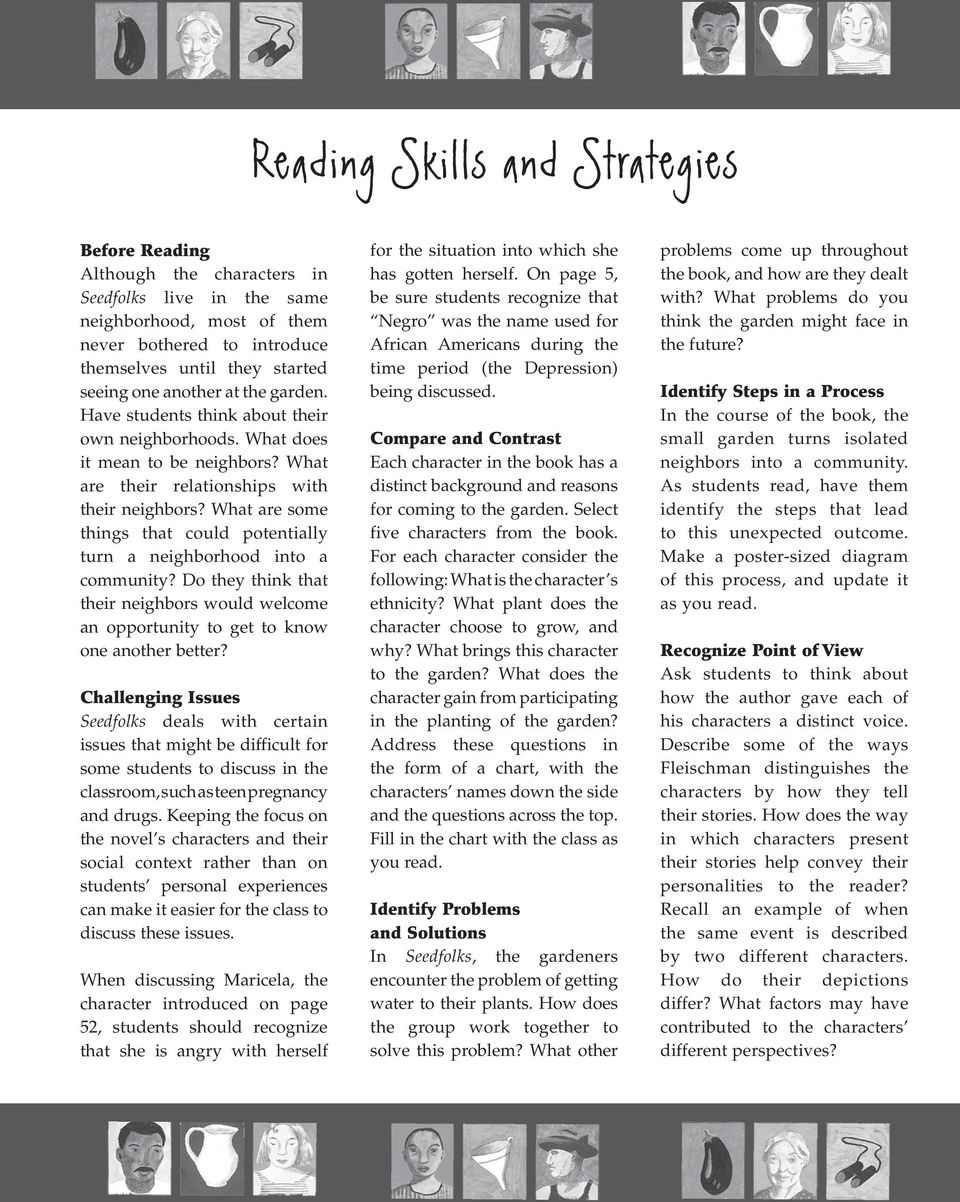 A Guide To Reading Paul Fleischman S Themes Compare Contrast Pdf