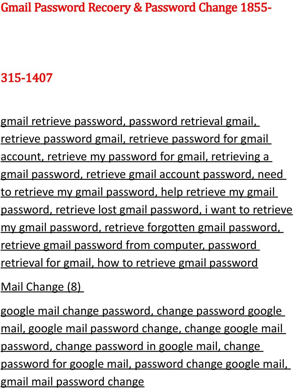 Gmail Password Recoery & Password Change PDF
