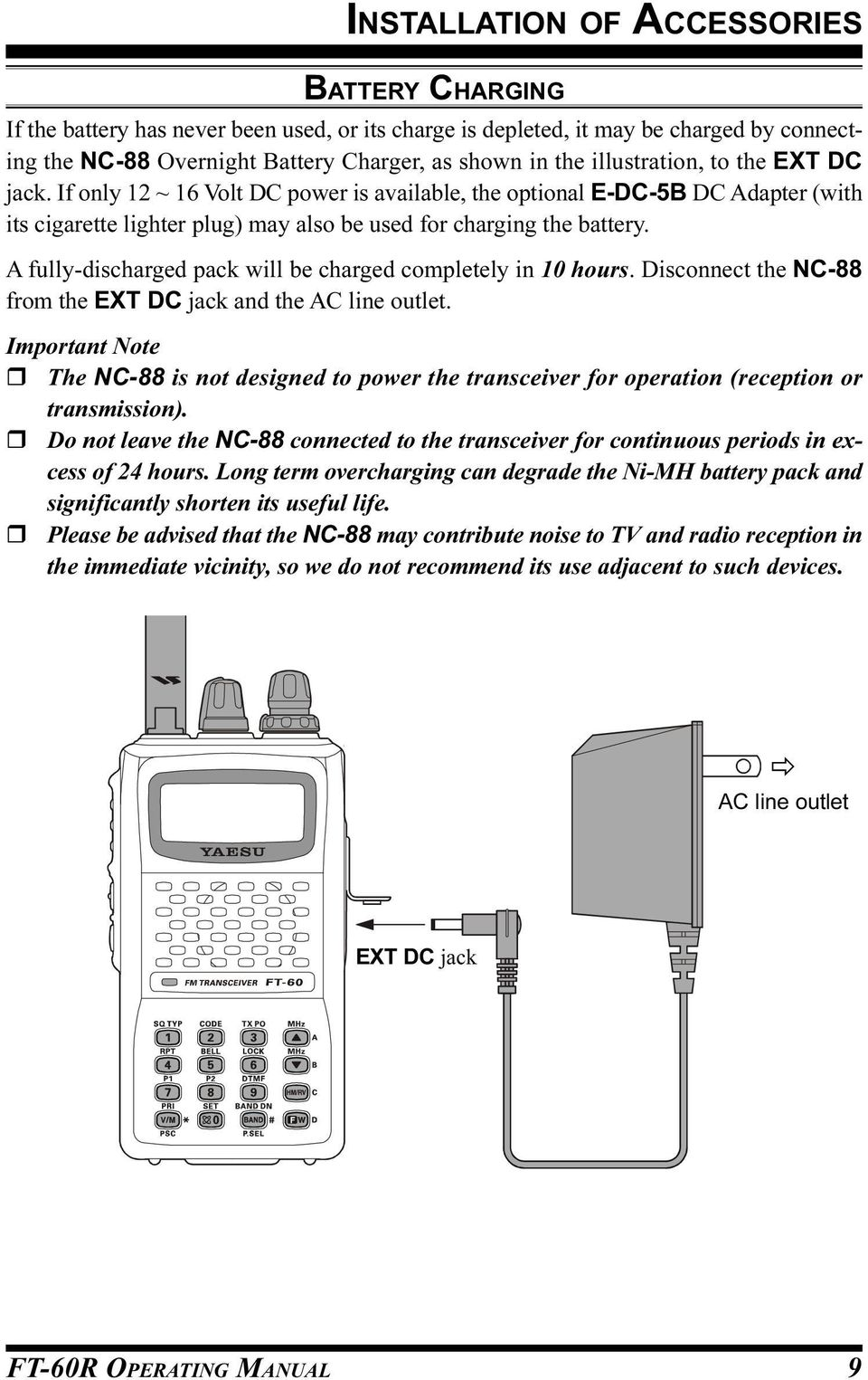 FT-60R OPERATING MANUAL VHF/UHF DUAL BAND TRANSCEIVER VERTEX
