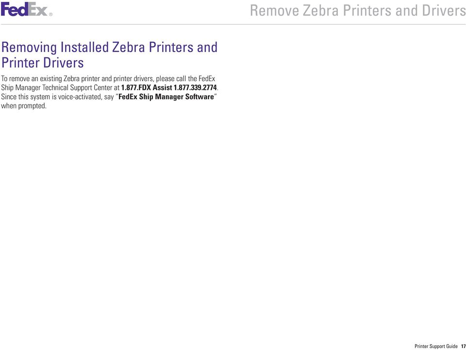 Printer Support Guide  FedEx Ship Manager Software - PDF