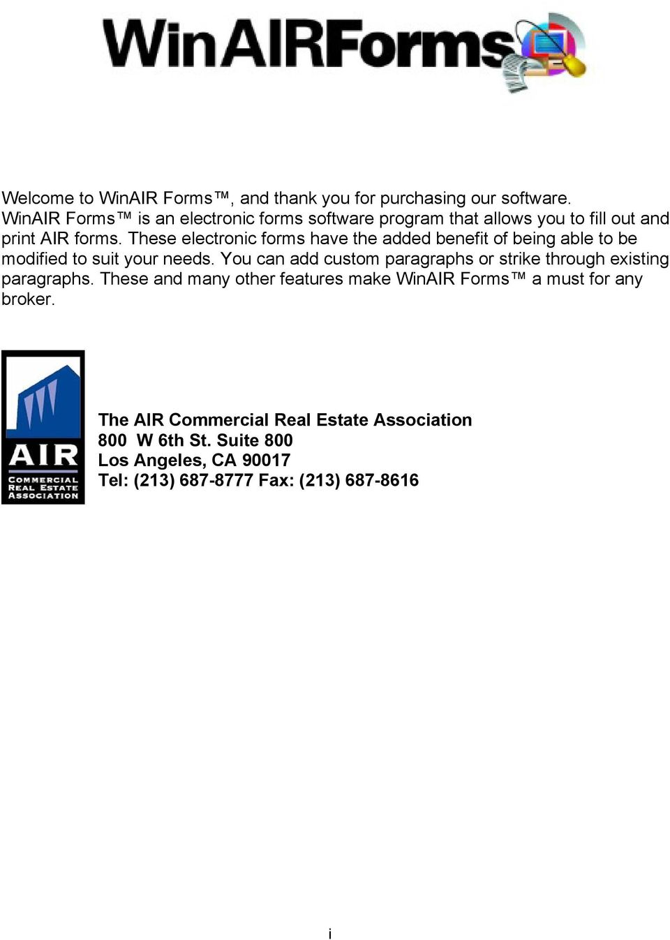 The Air Commercial Real Estate Association 800 W 6th St Suite 800