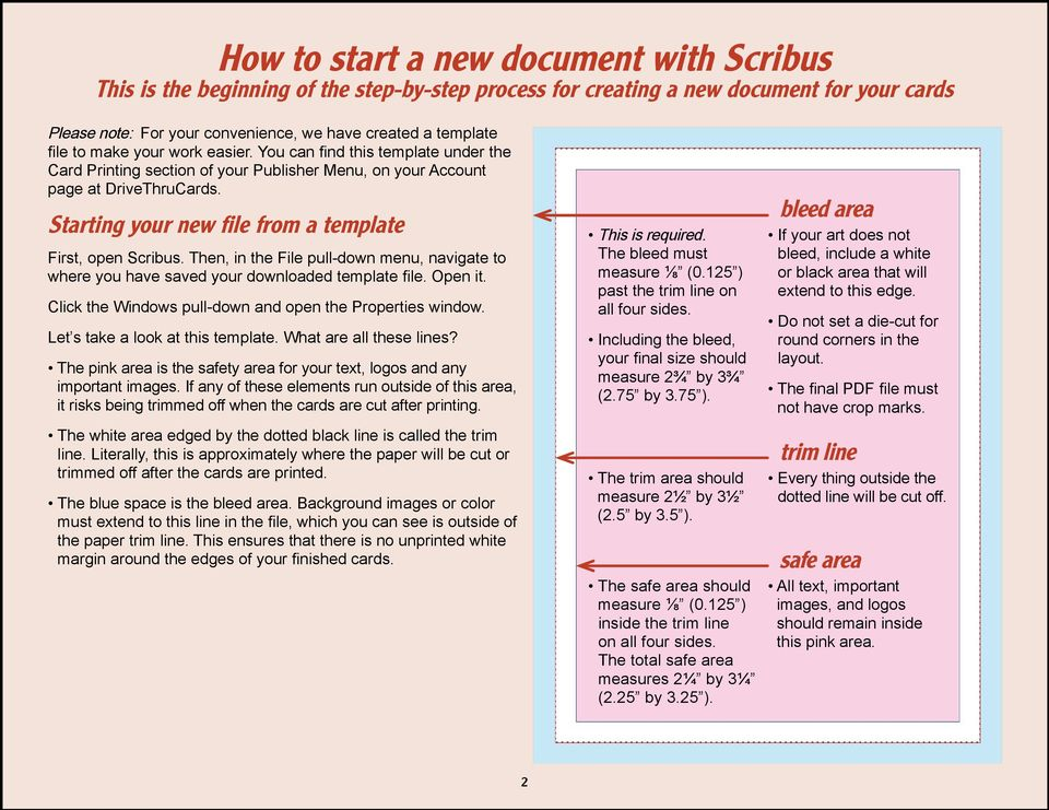How to Prepare Your Cards for Press Using Scribus - PDF