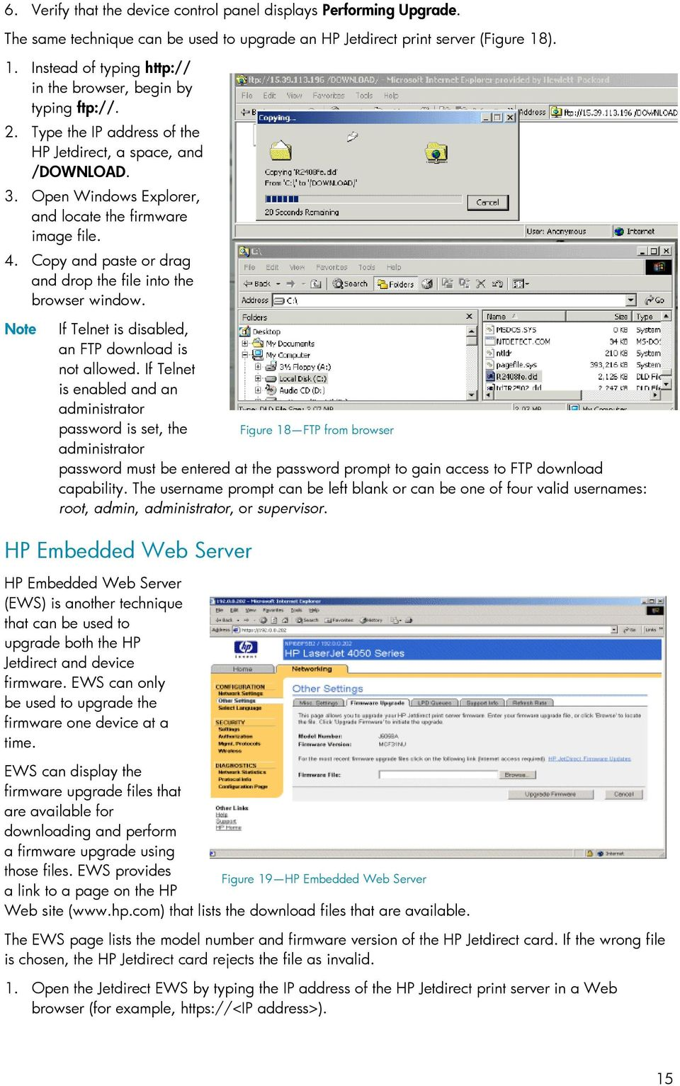 UPGRADING FIRMWARE CONTENTS  using HP Web Jetadmin - PDF