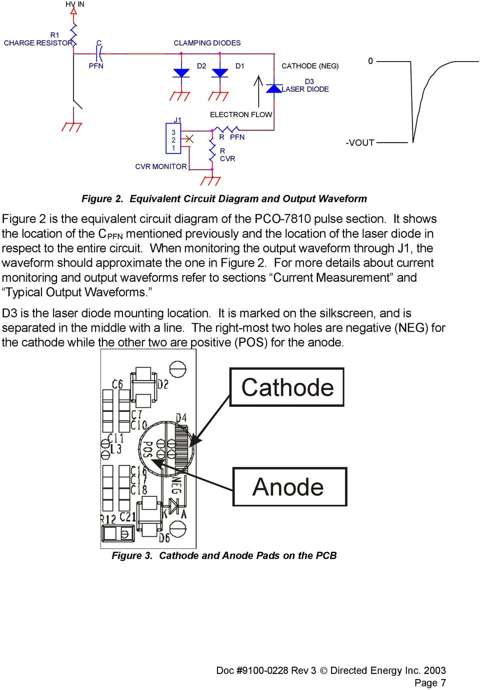 Directed Energy Inc Pco 7810 Laser Diode Driver Module Pdf Diagram Pulse Circuits For Infrared Leds And Visible It Shows The Location Of C Pfn Mentioned Previously