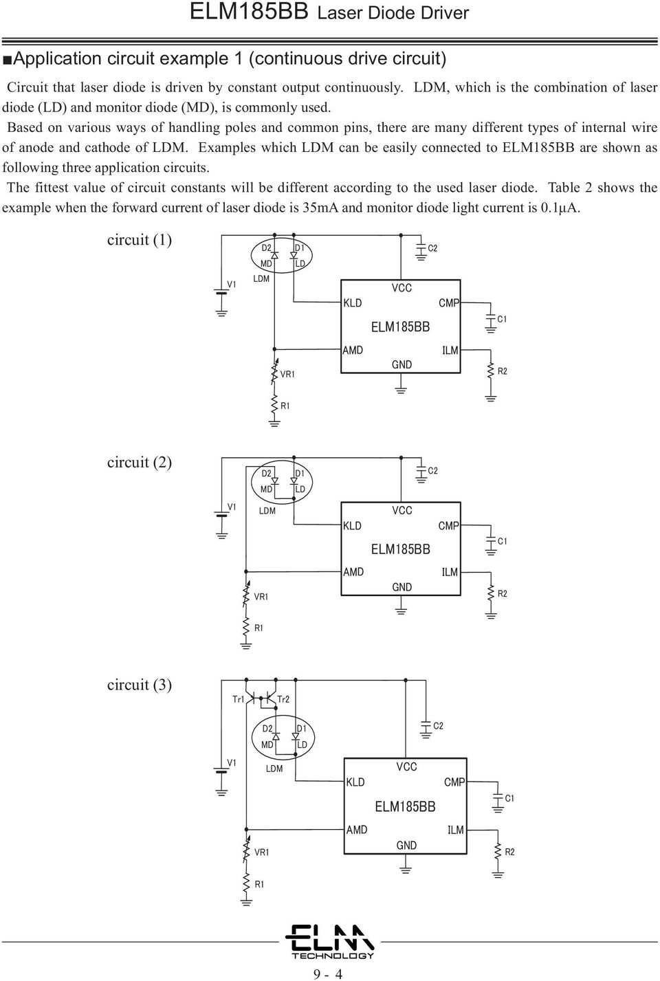 Elm185bb Laser Diode Driver Pdf 12v Switching Car Psu By Uc3843 Circuit Wiring Diagrams Based On Various Ways Of Handling Poles And Common Pins There Are Many Different Types