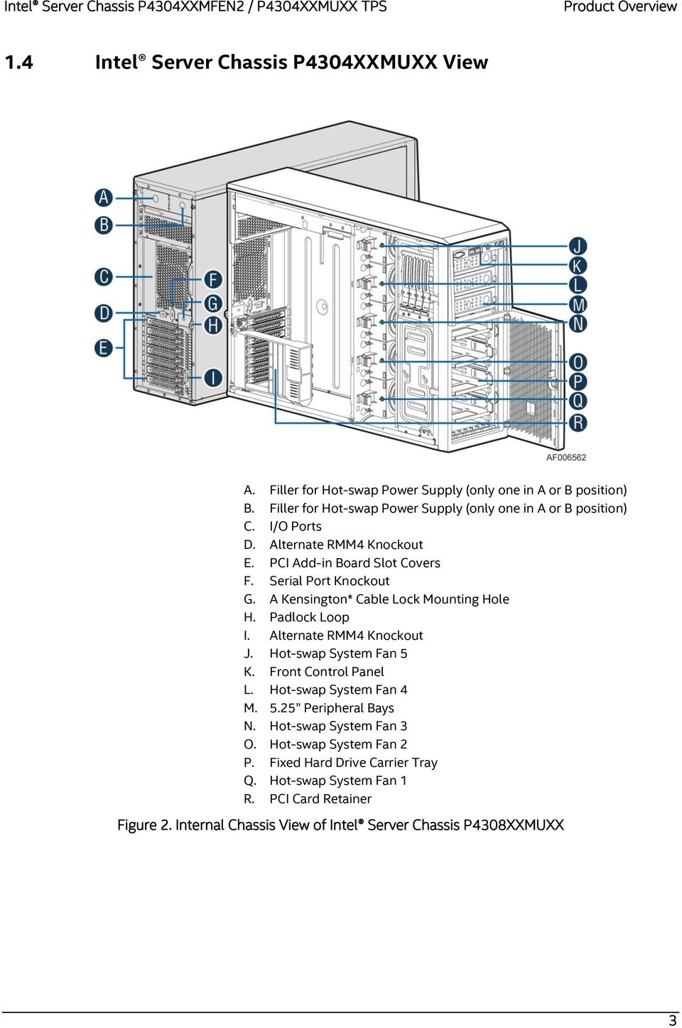 Intel Server Chassis P4304xxmfen2 P4304xxmuxx Pdf Compatible Systems Multiconnector Cable Diagram And Pinout Table A Kensington Lock Mounting Hole H Padlock Loop I Alternate Rmm4 Knockout