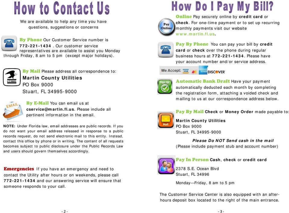 CUSTOMER GUIDE TO WATER AND SEWER UTILITY SERVICES - PDF