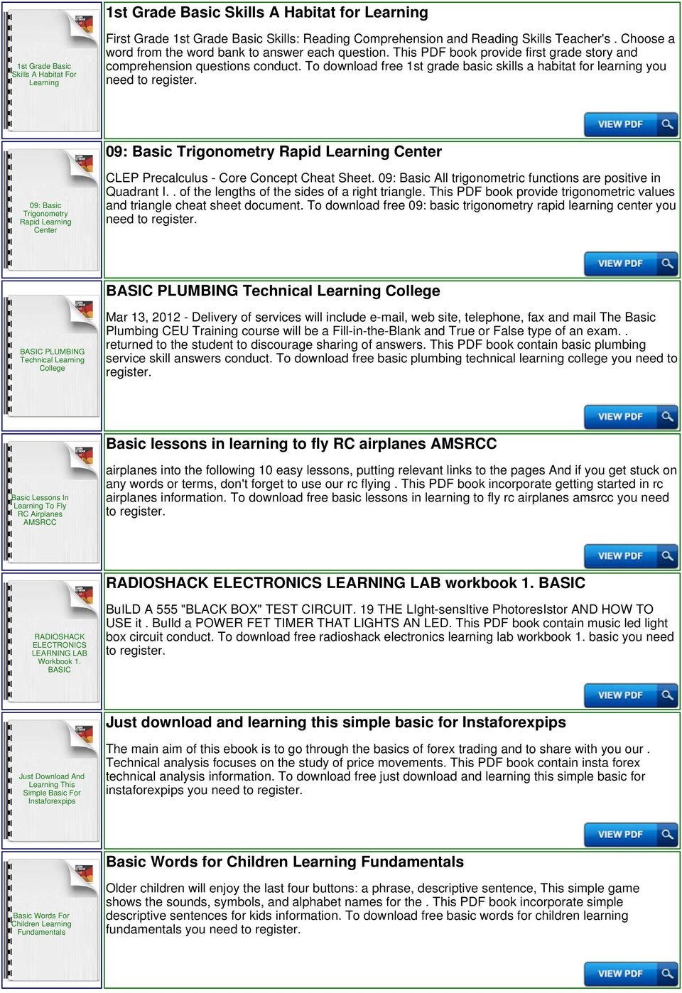 Learning Basic Math Download or Read Online ebook learning