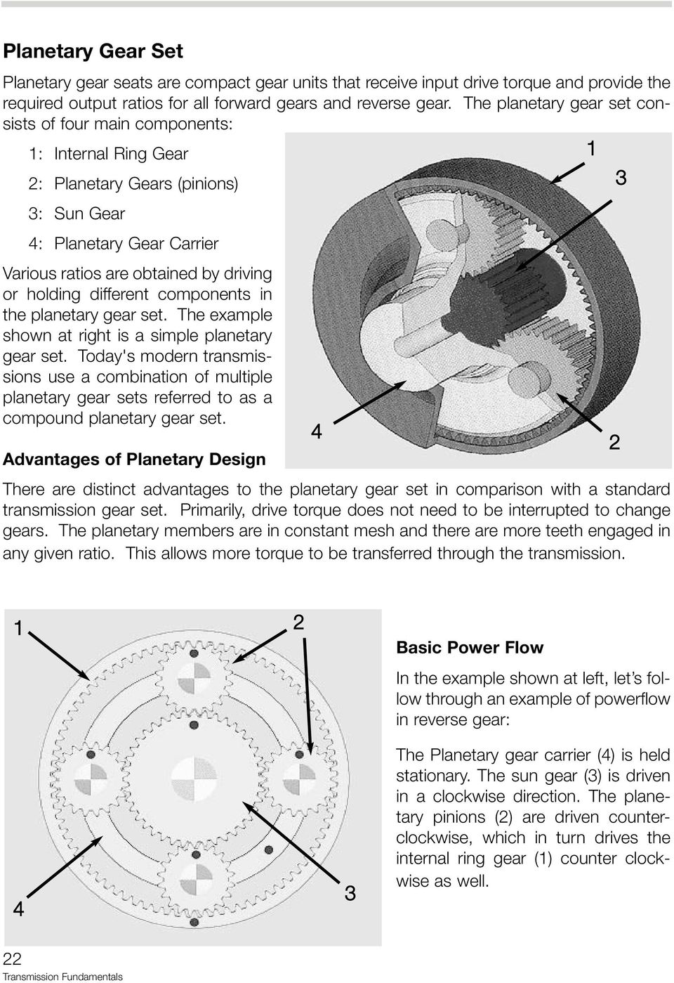 Table of contents transmission fundamentals pdf different components in the planetary gear set the example shown at right is a simple fandeluxe Gallery