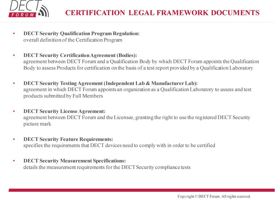 Dect Security Certification Program And Roadmap Dect Security At A