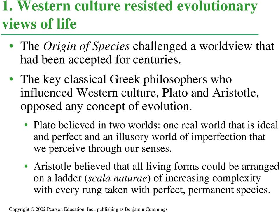 CHAPTER 22 Descent With Modification A Darwinian View Of