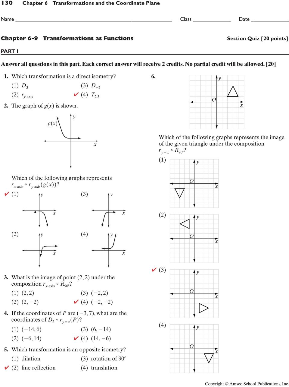 116 Chapter 6 Transformations and the Coordinate Plane - PDF