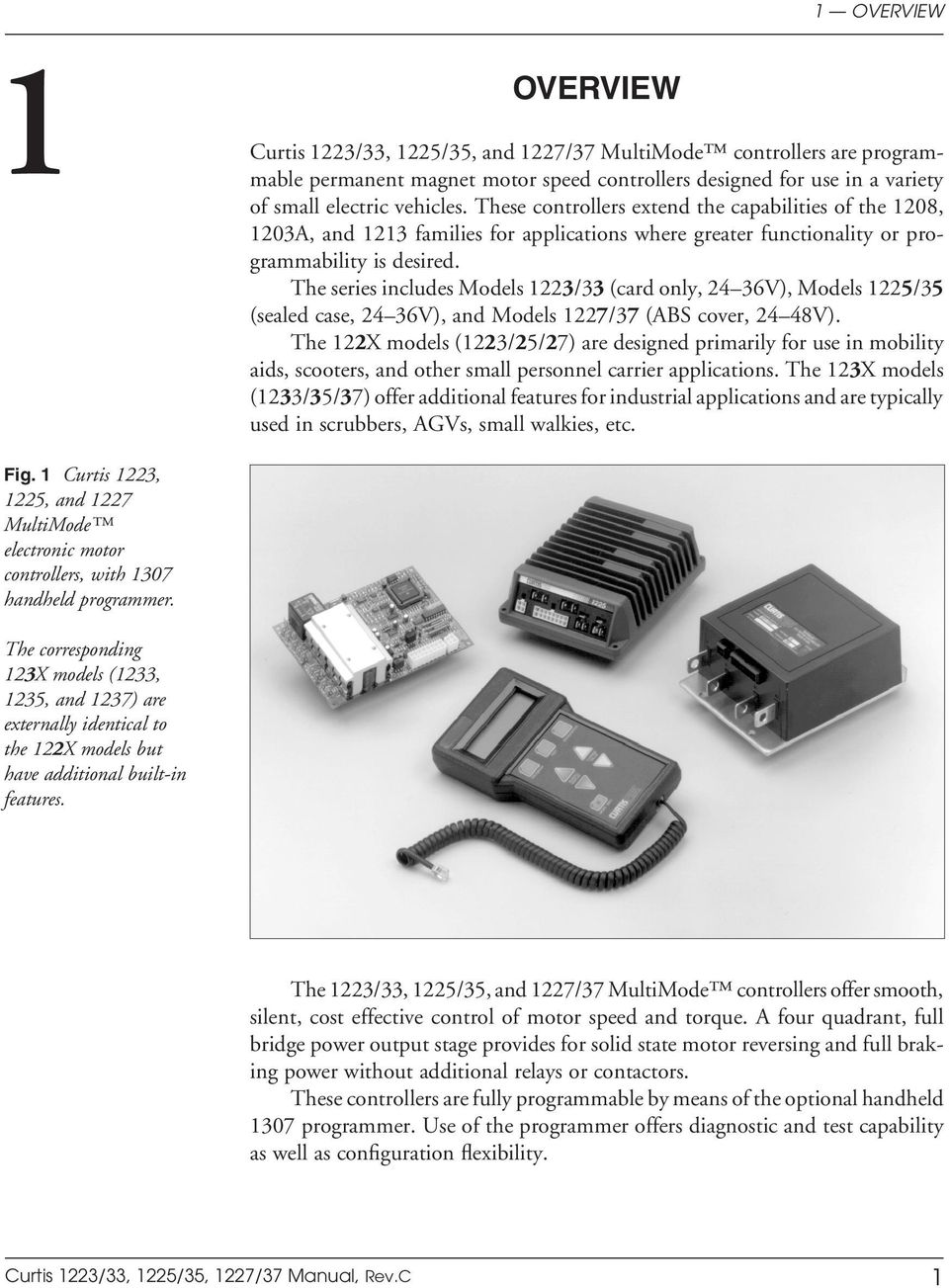 The series includes Models 1223/33 (card only, 24 36V), Models