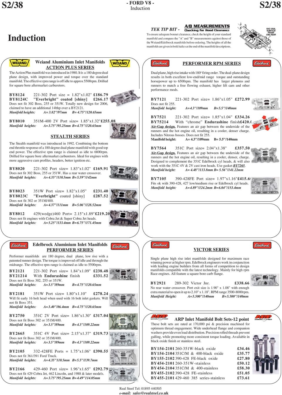 This Is Part 2 On Our Website Through To And Including Page S2 40 Pdf Ford Electronic Ignition Wiring Diagram Dual Plane Weiand Aluminium Inlet Manifolds Action Plus Series The Manifold Was Introduced In 1980