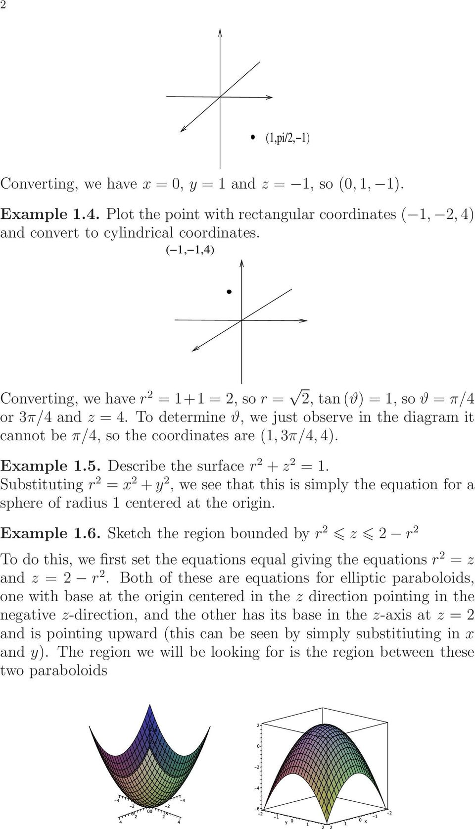 Section 16 7 Triple Integrals in Cylindrical Coordinates - PDF