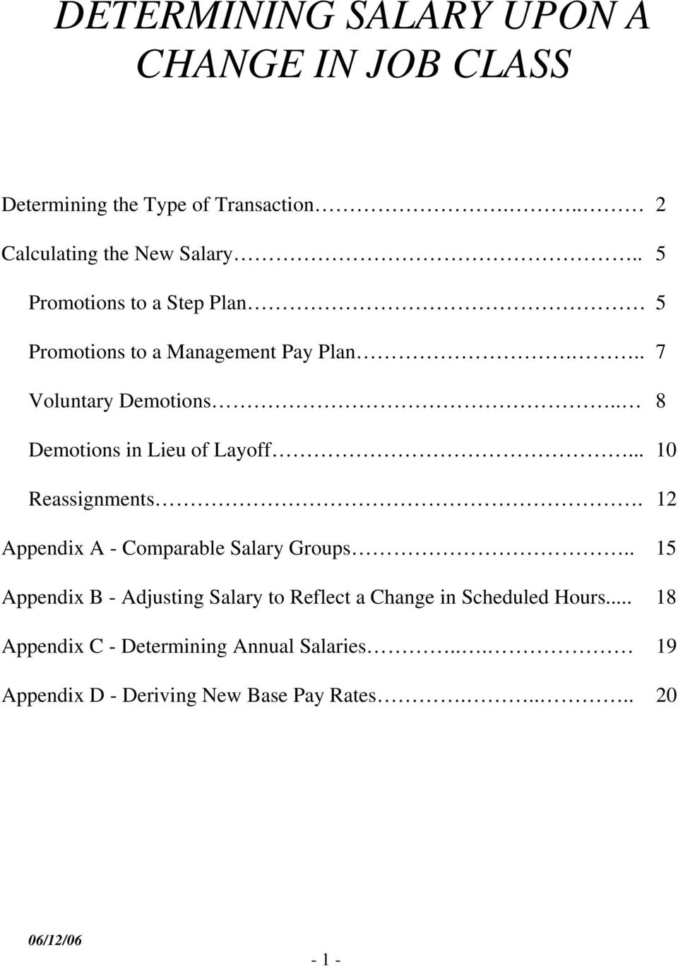 DETERMINING SALARY UPON A CHANGE IN JOB CLASS   PDF Free Download