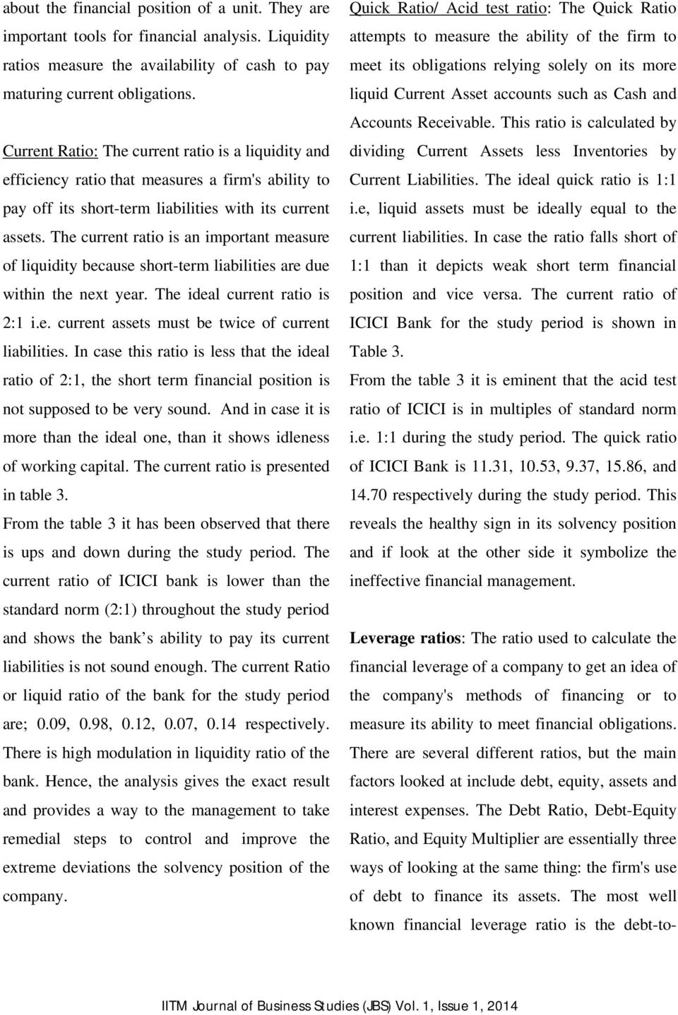 AN EMPIRICAL STUDY OF FINANCIAL PERFORMANCE OF ICICI BANK- A