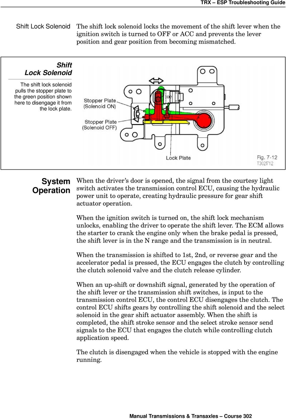 Sequential Manual Transmission Pdf 2002 Mitsubishi Engine Diagram Clutch System Operation When The Driver S Door Is Opened Signal From Courtesy Light