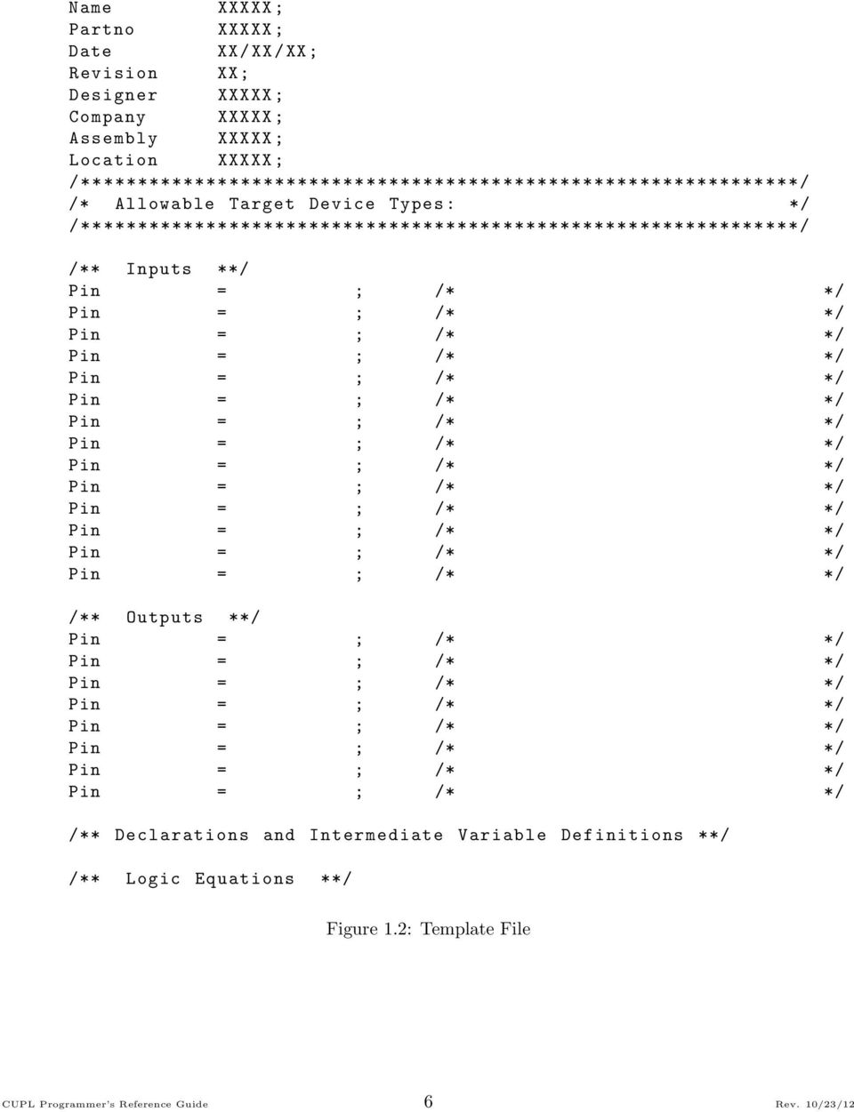 CUPL Programmer s Reference Guide - PDF