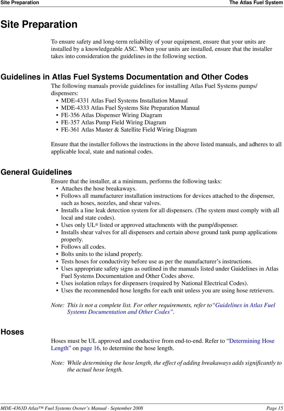 Atlas Fuel Systems Owner S Manual Mde 4363d Pdf Jack Plate Wiring Diagram Guidelines In Documentation And Other Codes The Following Manuals Provide For Installing