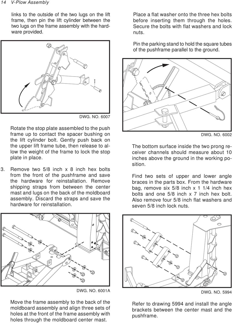 Pickup Truck Snowplow V Plow Pdf Trailer Light Wiring Harness 4 Flat 25ft To Redo Lights Pin The Parking Stand Hold Square Tubes Of Pushframe Parallel Ground