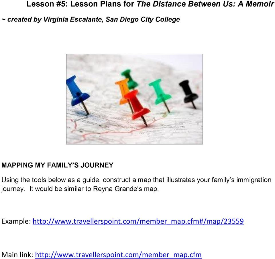 Lesson 5 Lesson Plans For The Distance Between Us A Memoir