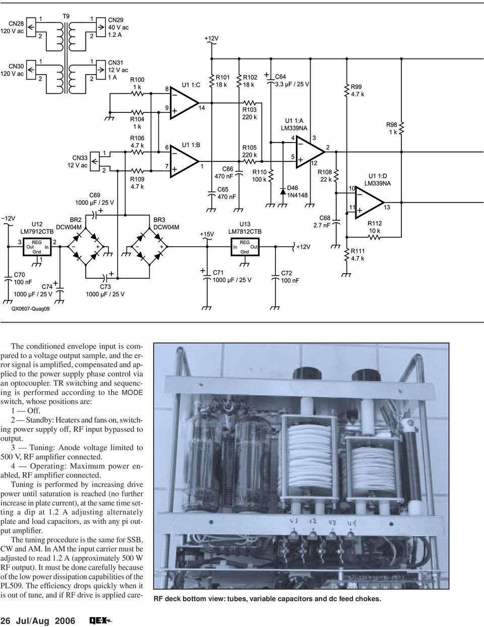 An Innovative 2 Kw Linear Tube Amplifier Pdf 20w Hifi Power With Tda2040 Schematic Design 3 Tuning Anode Voltage Limited To 500 V Rf Connected 4 Operating