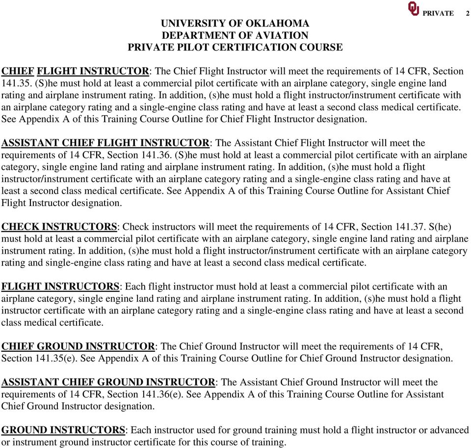 Avia 1222 Private Pilot Certificate Course University Of Oklahoma Pdf