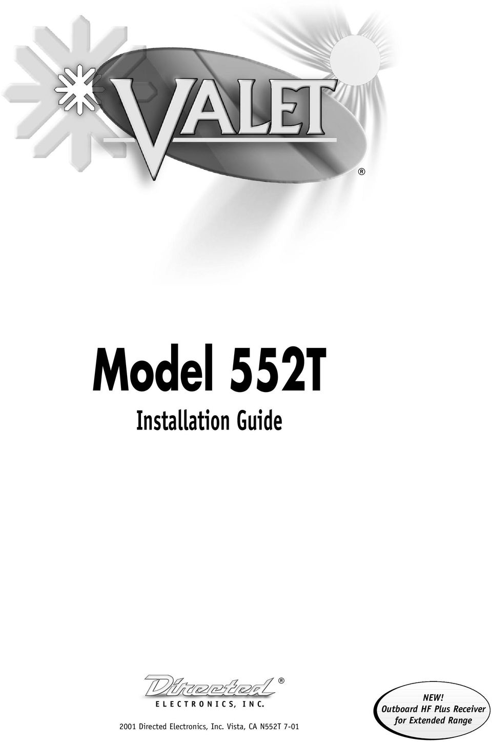 Valet 552t Installation Manual Remote Car Starter Wiring Diagram Model Guide Pdf Rh Docplayer Net Start