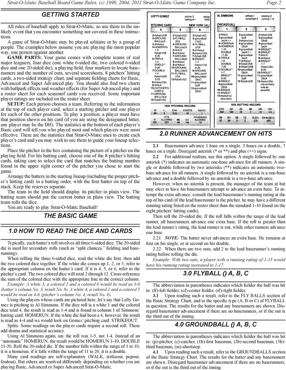 How To Play Strat O Matic Baseball Pdf