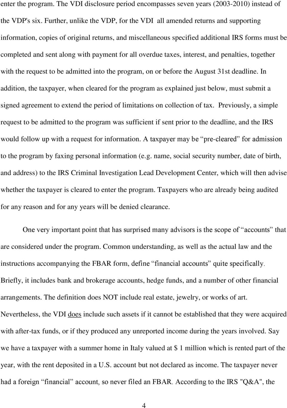 Foreign Bank Accounts An IRS Offer You Can t Refuse - PDF