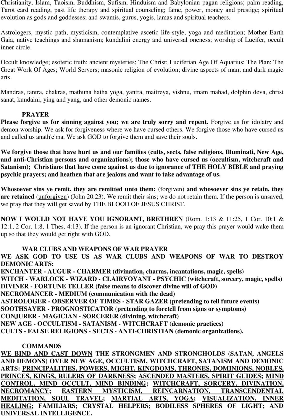 Witchcraft deliverance manual -2 (part 2) - PDF