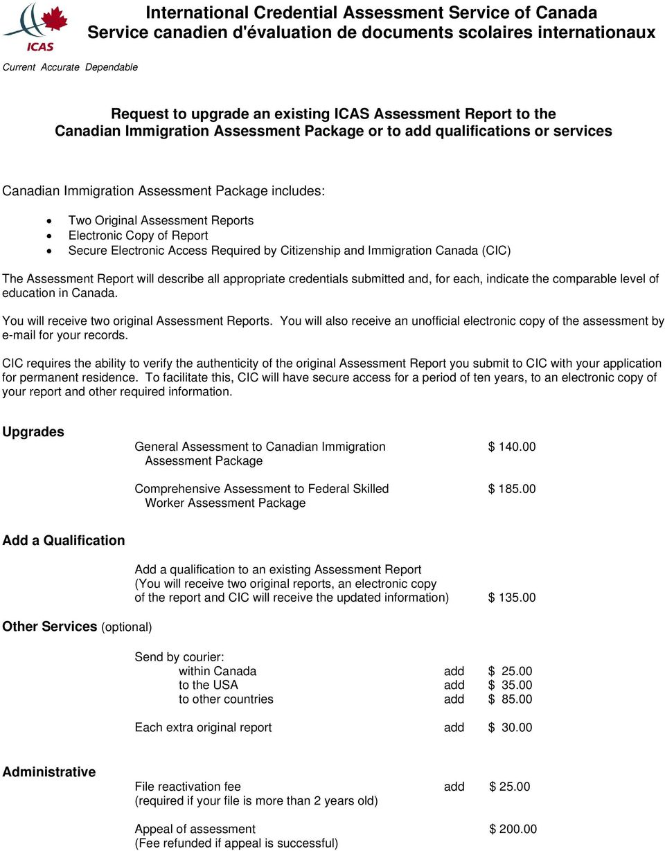 International Credential Assessment Service of Canada Service