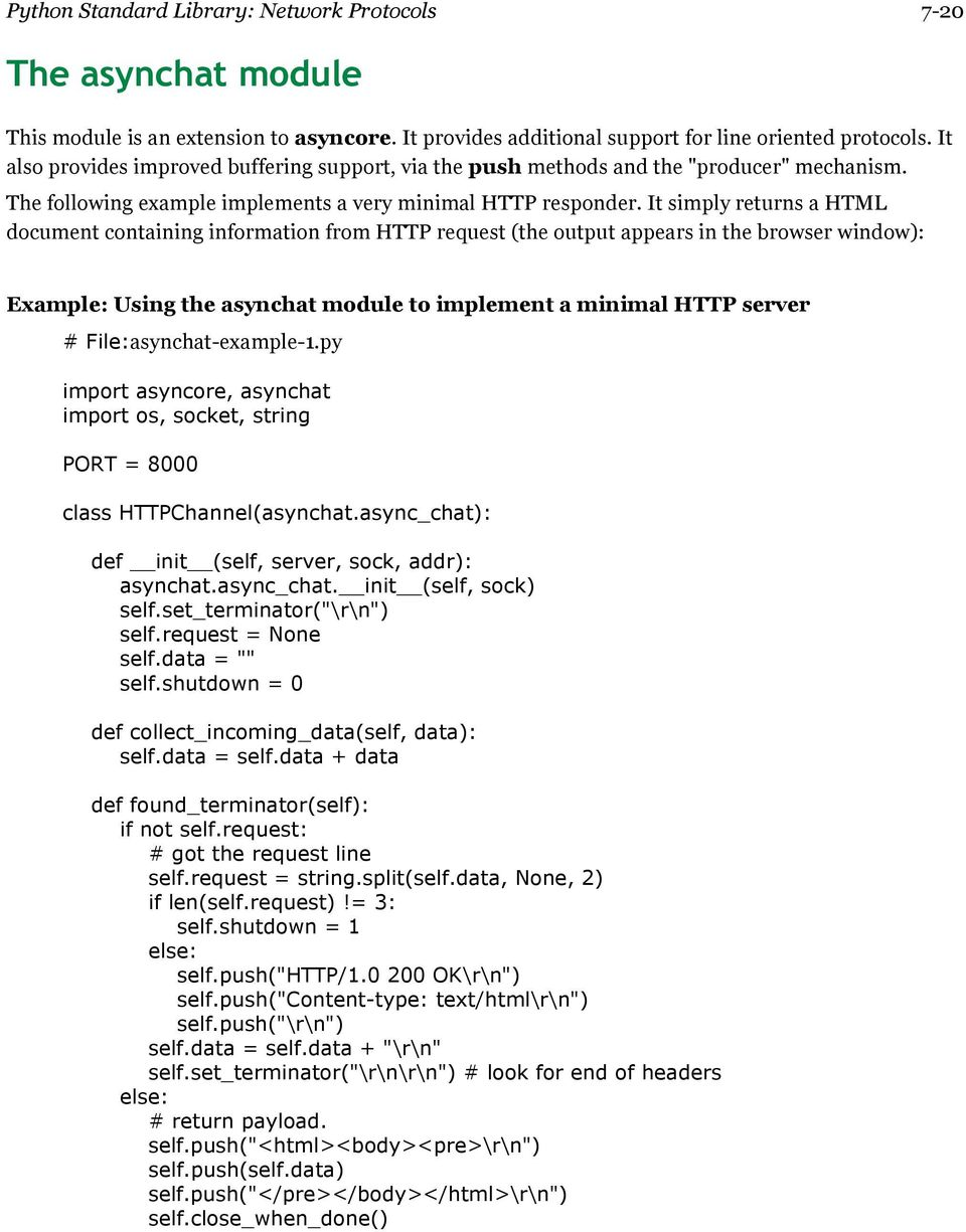 Python Standard Library: Network Protocols PDF Free Download