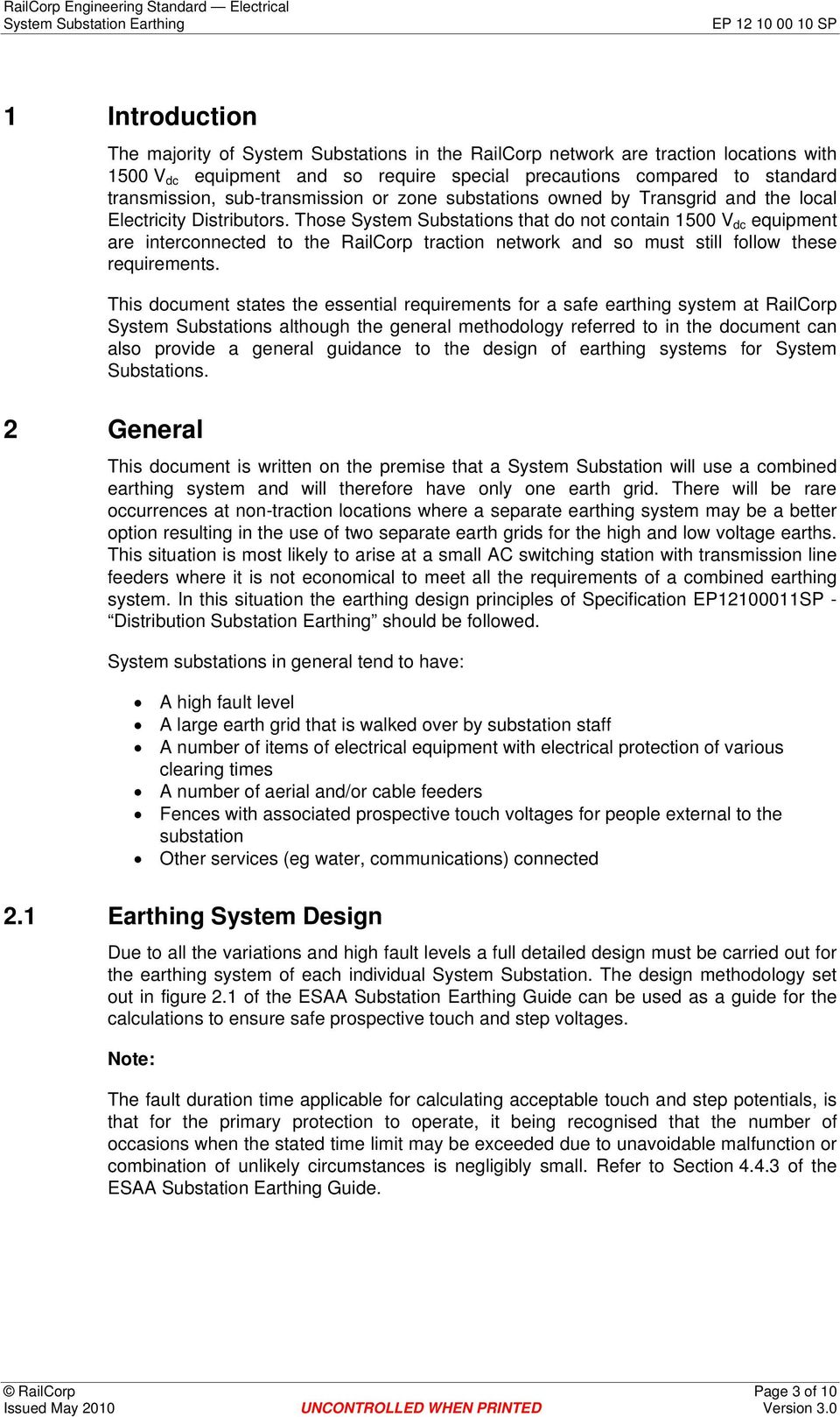 Ep Sp System Substation Earthing Authorised By Wilfred Leung Chief Wiringdiagramoftractionsubstationfordummiesjpg Those Substations That Do Not Contain 1500 V Dc Equipment Are Interconnected To The Railcorp