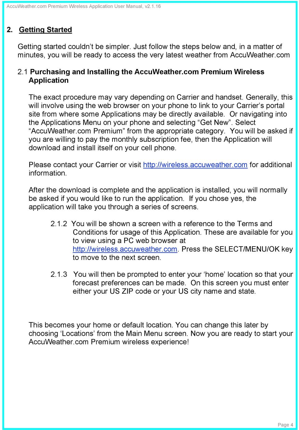 AccuWeather com Premium User Manual - PDF