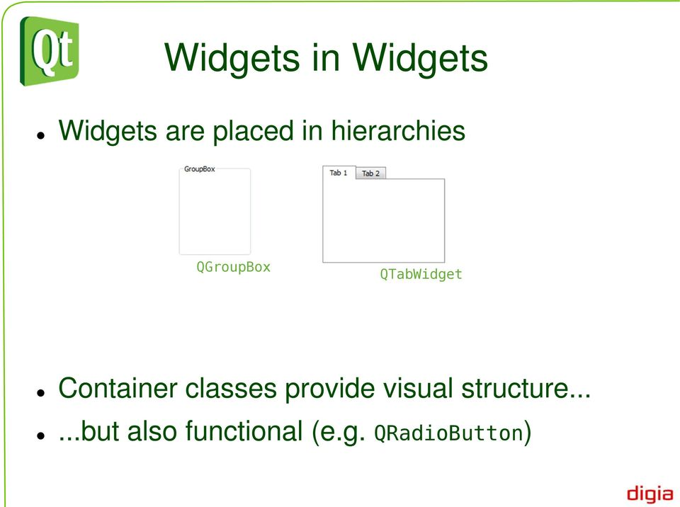 Qt in Education  Widgets and Layouts - PDF
