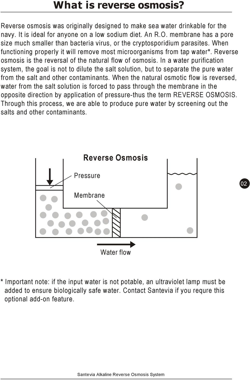 Users manual alkaline reverse osmosis system pdf reverse osmosis is the reversal of the natural flow of osmosis publicscrutiny Choice Image