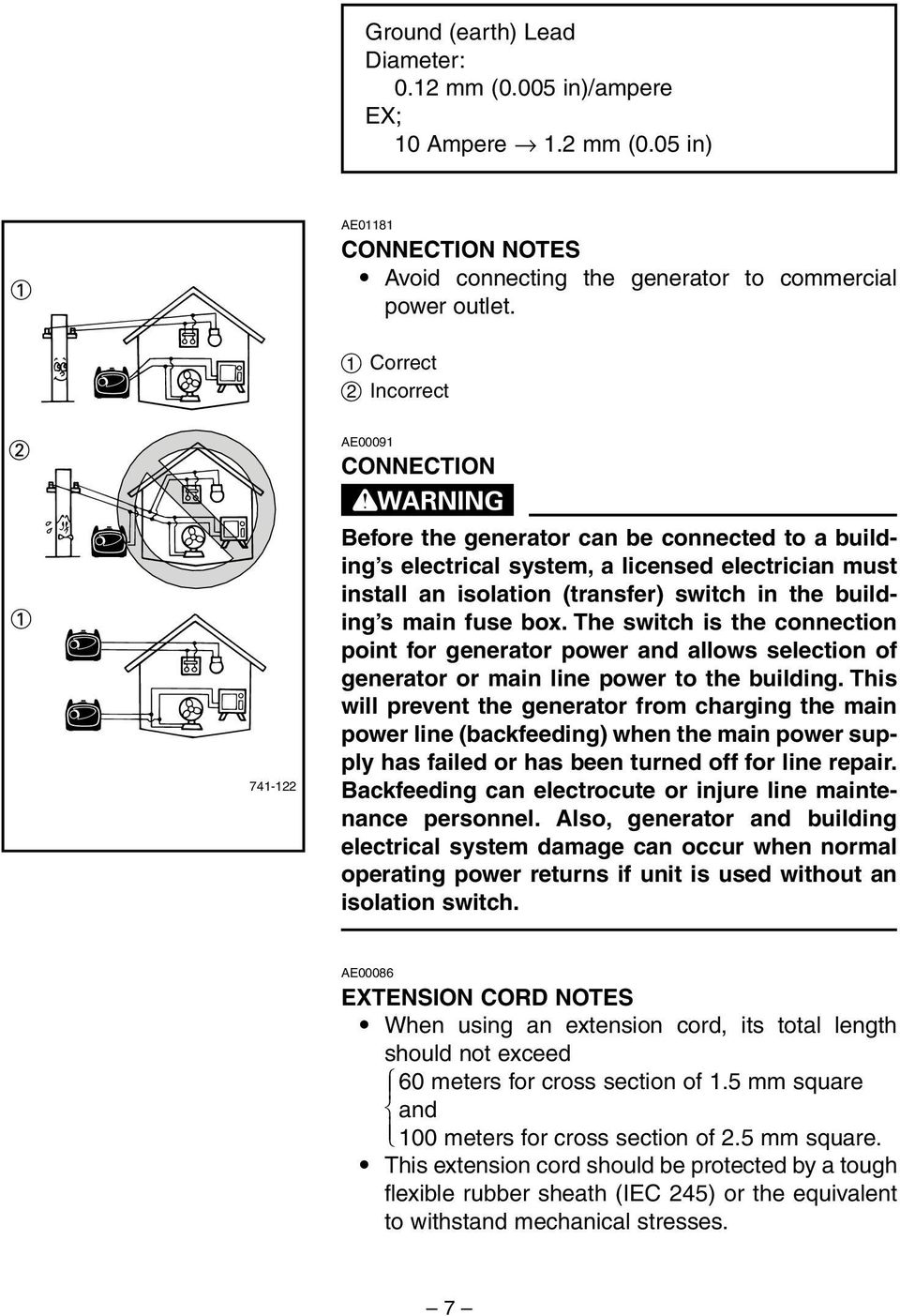 Generator Owner S Manual Ef2400is Pdf Fuse Box The Building Main Switch Is Connection Point For Power