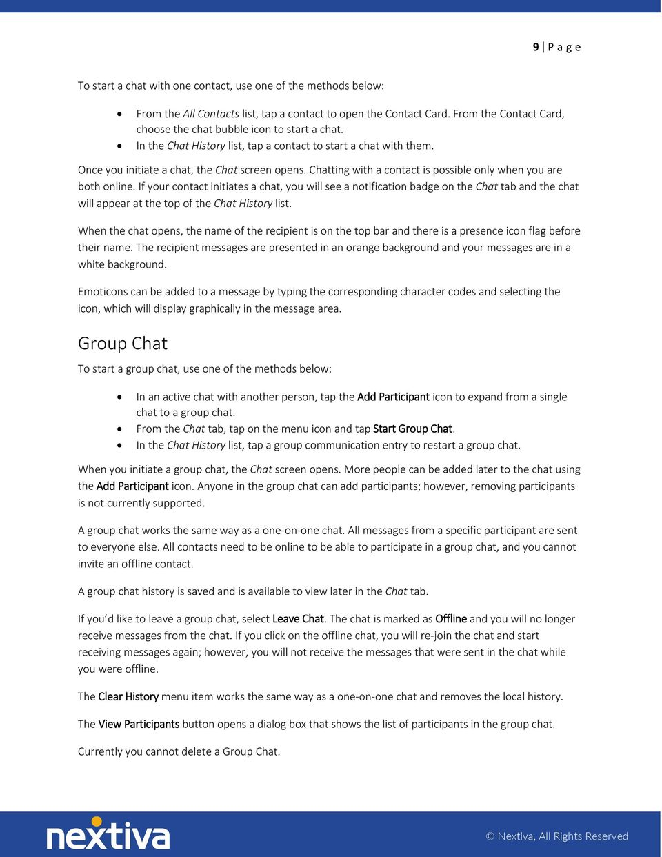 NEXTIVA APP Android User Guide - PDF