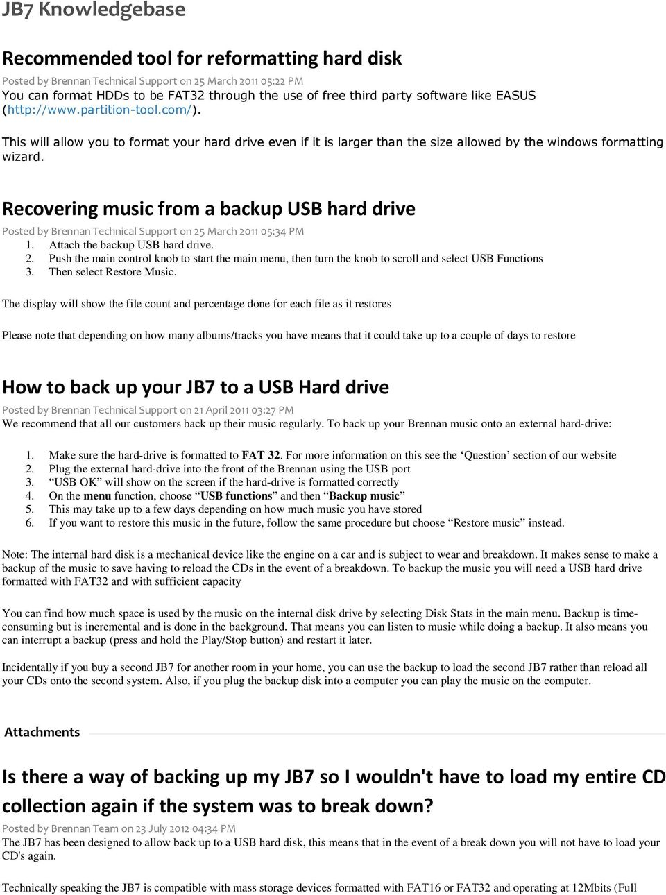 Recommended tool for reformatting hard disk - PDF