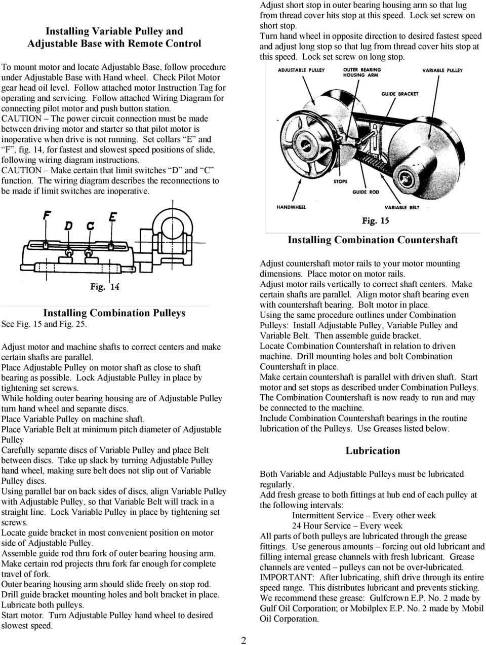 Lewellen Pulleys Track A V Type Belt At Infinitely Adjustable Itch Combination Motor Controller Wiring Diagram Caution The Power Circuit Connection Must Be Made Between Driving And Starter So That Pilot