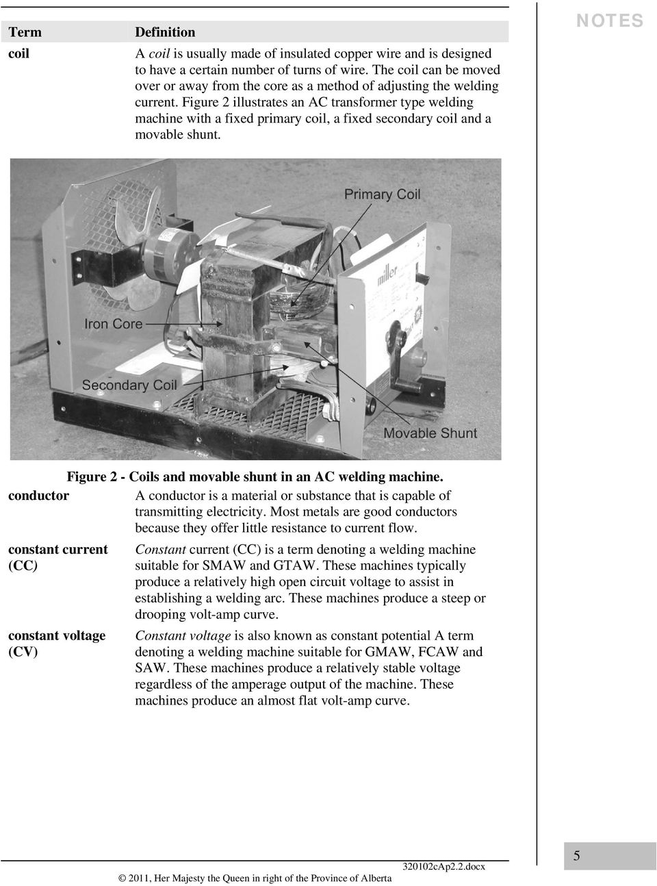 Shielded Metal Arc Welding Smaw Part A Pdf Ground Connection For Resistance Machine Wiring Schematic Figure 2 Illustrates An Ac Transformer Type With Fixed Primary Coil