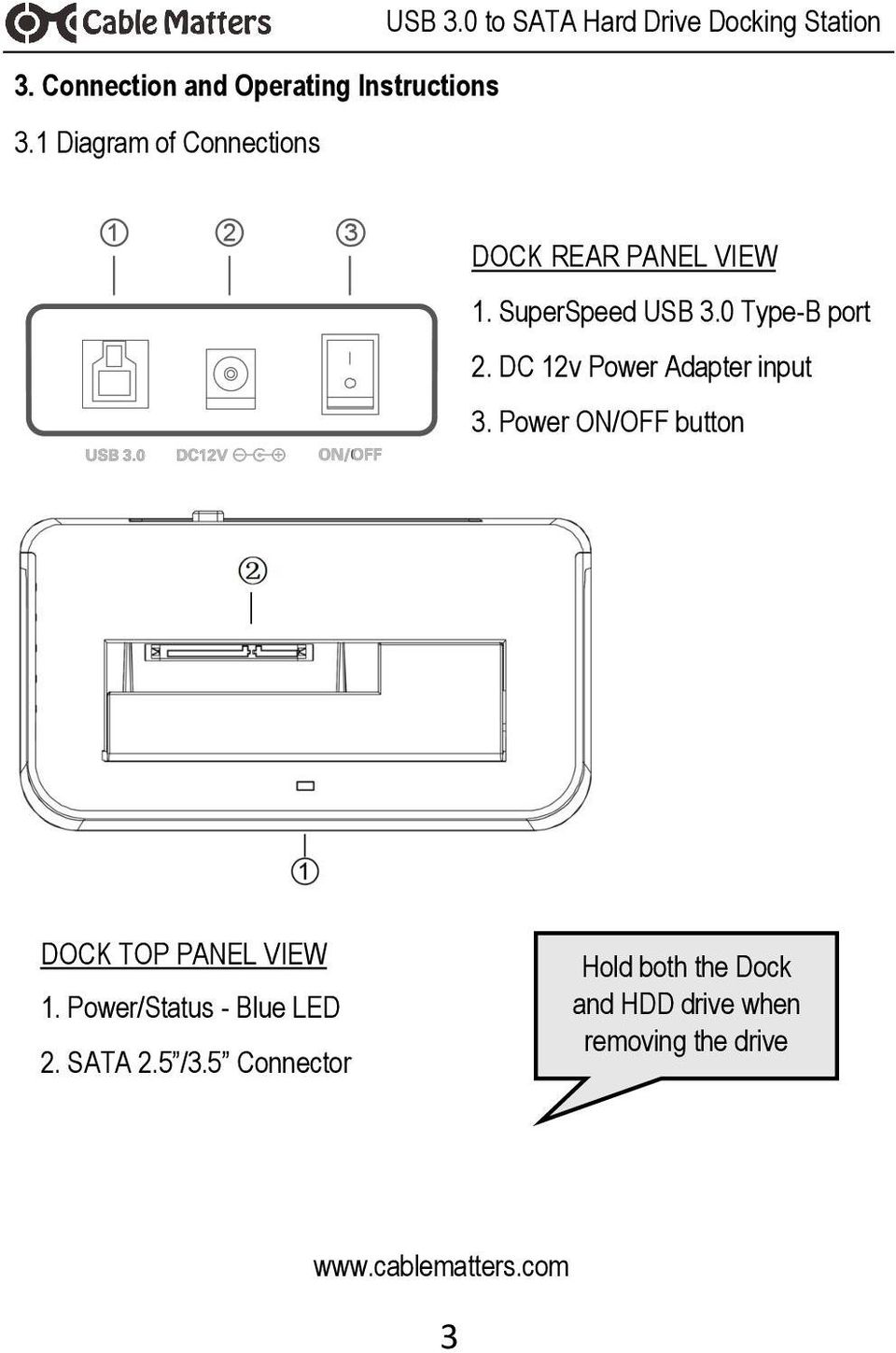 User Manual Available In A Pdf File Sata Drive To Usb Wiring Diagram Dc 12v Power Adapter Input 3