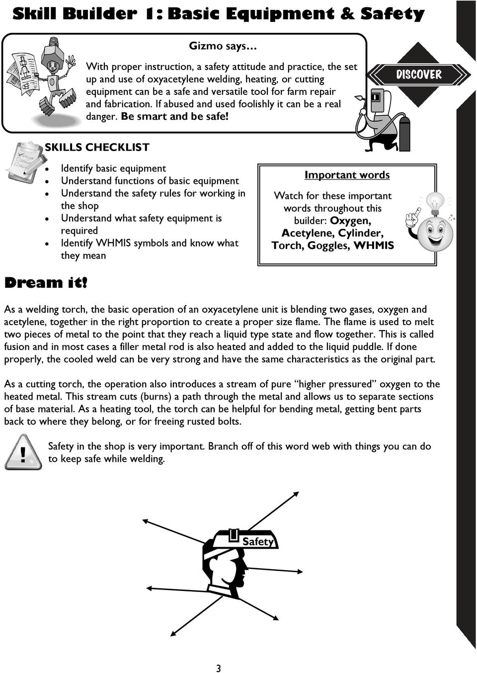 4 H Machine Series Discovering Oxyacetylene Welding Cutting Pdf Oxy Acetylene Equipment Diagram Skills Checklist Identify Basic Understand Functions Of The Safety Rules For Working