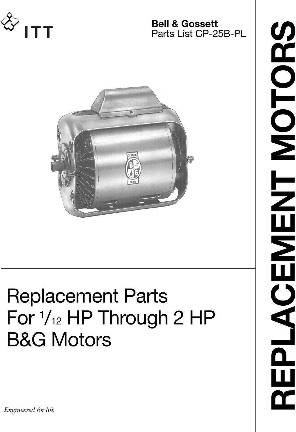 Replacement Parts For 1 12 Hp Through 2 Bg Motors Bell Amp Gossett Wiring Diagram