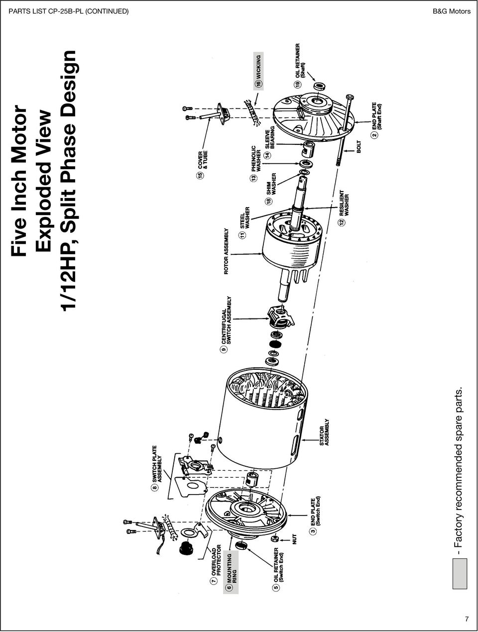 Bell Gossett Motors Wiring Diagram Electrical Diagrams Amp Replacement Parts For 1 12 Hp Through 2 Bg And 3